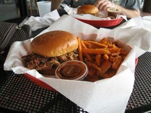 Pulled Pork and Sweet Potato Fries