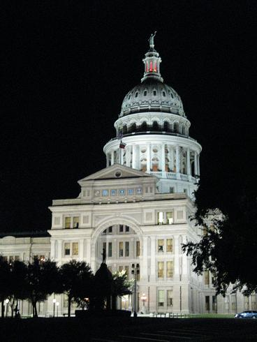 Texas Capitol, Night