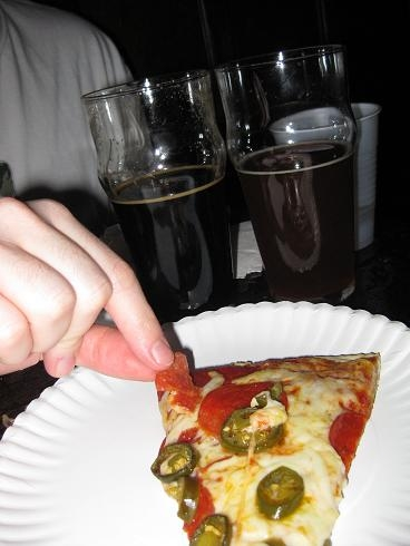 Pepperoni Jalapeno Pizza, Double IPA and Century Stout