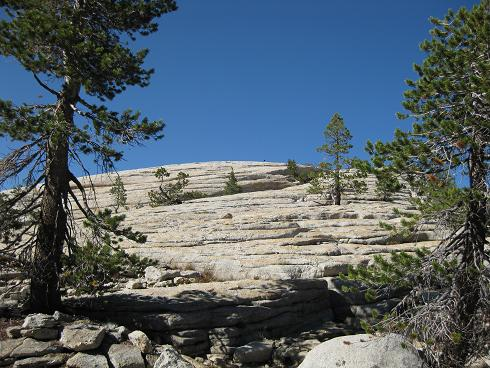 the back of Dog Dome from the trail