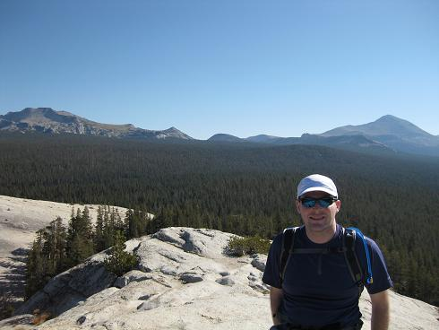 Chuck at the top of Lembert Dome
