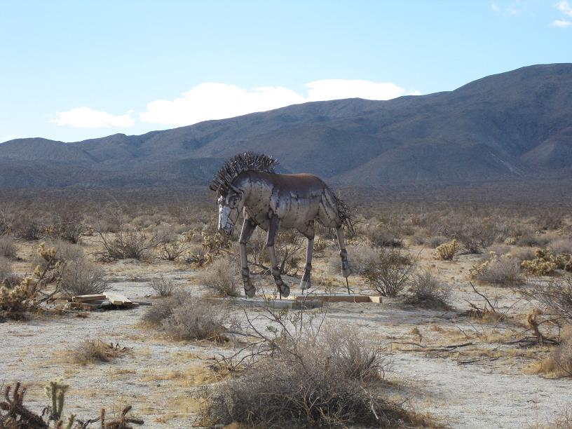 Wild Horse scupture in Galleta Meadows