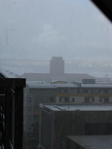 I can almost see the harbor through the rain