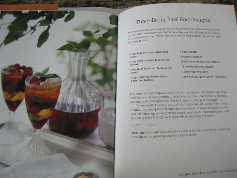 Three-Berry Basil Rose sangria recipe