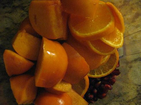 Pomegranates, Tangerines and Persimmons