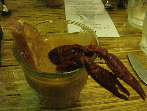Smoked Tomato-Crawfish Bisque