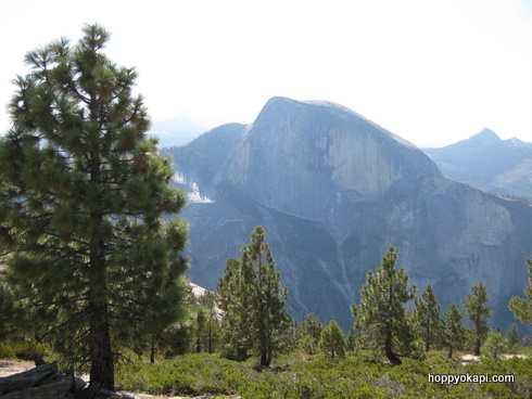 Half Dome, from North Dome trail juntion