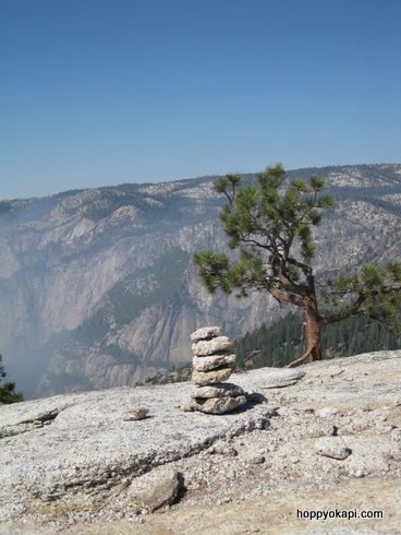A cairn on North Dome