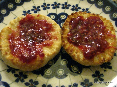 English Muffin with Raspeberry Jam