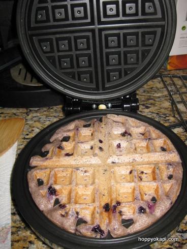 waffle in progress