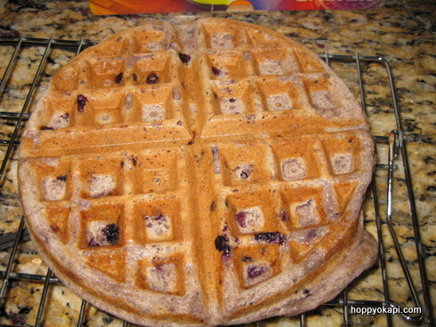 Blueberry Whole Wheat Waffle