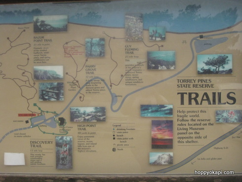 Map of the Torrey Pines trails