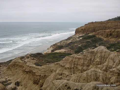 Cliffs and breakers, Torrey Pines