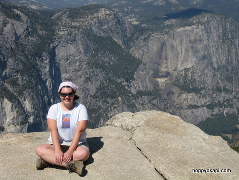 Me on an outcropping near Taft Point