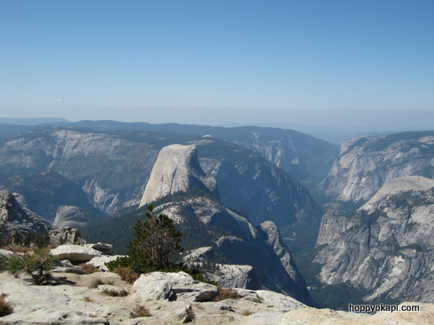Half Dome and beyond, from Clouds Rest summit